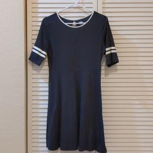 Girls Knit Racer Stripe Dress